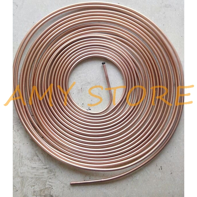 5/16 Inch OD 50FT Aluminum Copper Plating Tubing Refrigerator OD 8mm Length 15m
