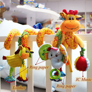Image 2 - baby toys 0 12 months crib mobile bed bell rattles educational toy for Newborns Car Seat Hanging infant Crib Spiral Stroller Toy