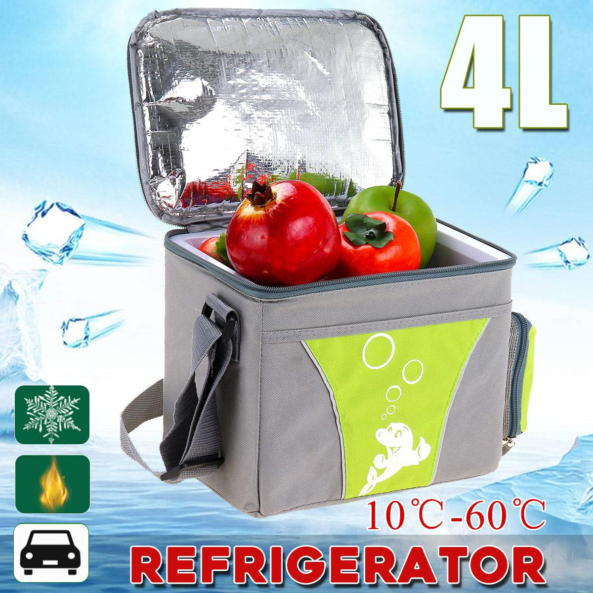 Fridge Refrigerator Car-Cooling-Heating-Box Cars Mini Camping 12V Home 4L for 2-In-1