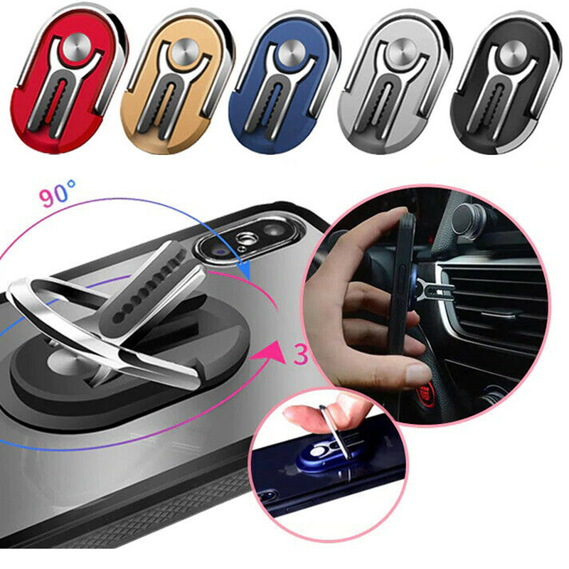 Car Phone Ring Bracket Car Air Vent Mount Support Mobile Cell Smart Phone Stand Air Outlet Universal Finger Ring Car Phone Holde