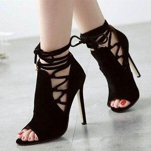 Image 4 - Mazefeng 2018 Sommer Hot Klassischen Frauen Pumpen Schuhe Rom Reifen Stil Damen Schuhe mit hohen absätzen Hohe Qualität Weibliche Schuhe offene spitze