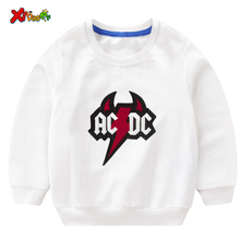 Kids Sweatshirt ACDC Boys Sweatshirt White2019 Cotton Pullover Top New Print Pullover Tee Autumn Kids Tops Long Sleeve T-shirt недорого