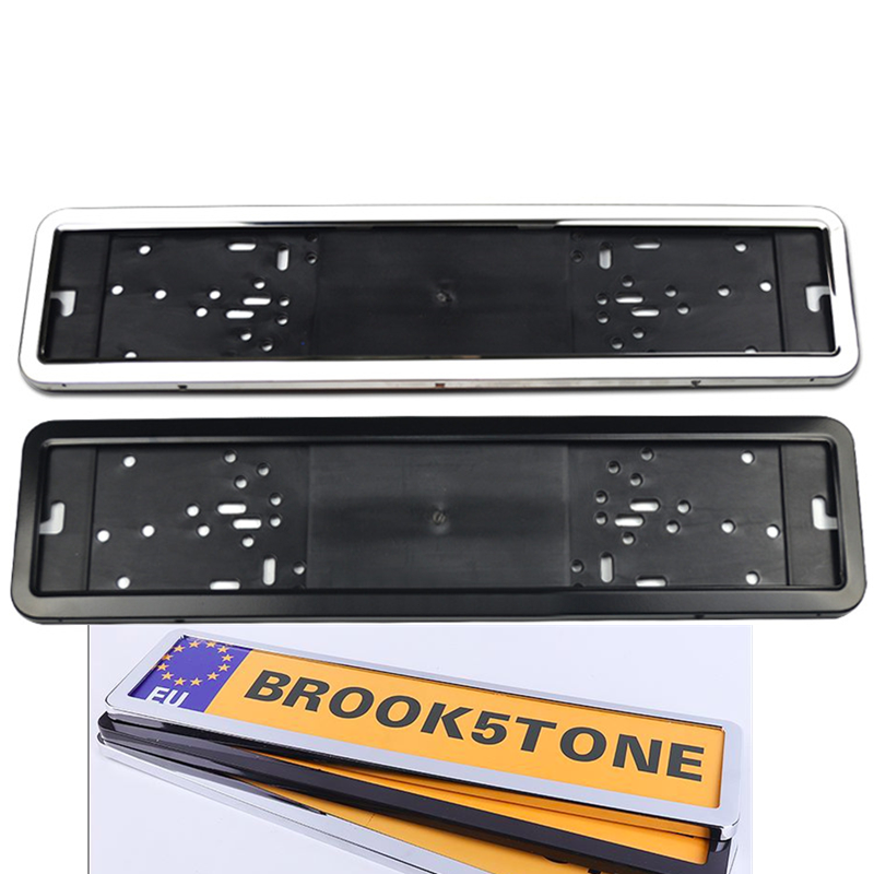 1 Set Stainless Steel Car License Plate Frame Number Plate Holder For European Countries Russian France Spain Ukraine 8K