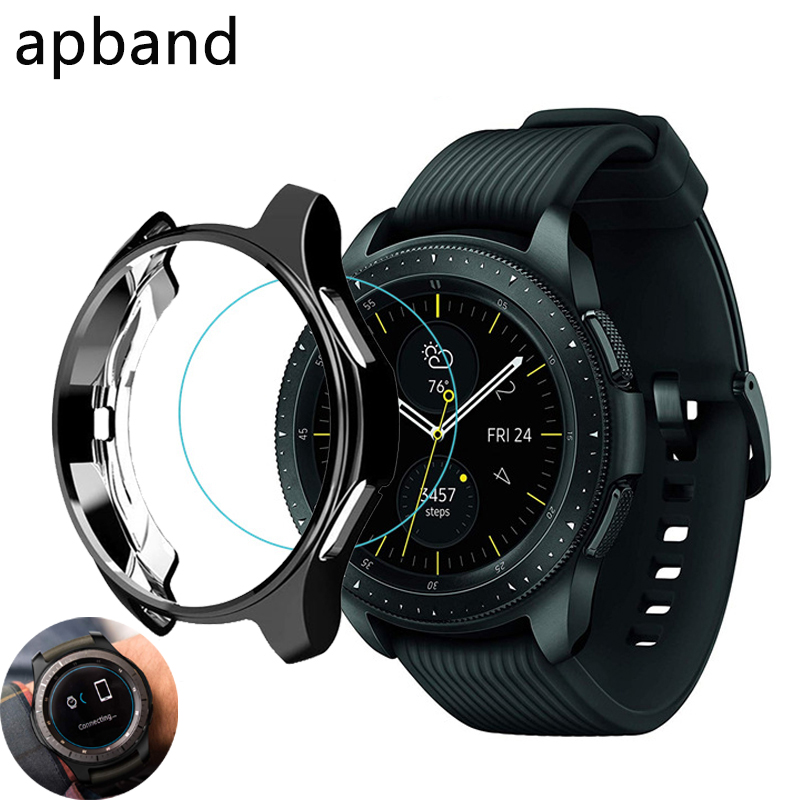 Gear S3 frontier Cover for Samsung Galaxy Watch 46mm 42mm case galss bumper soft smart watch accessories plated protective shell