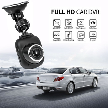 Mini Car DVR 1080P Full HD Dash Cam Vehicle Camera Video Recorder Registrar Car Parking Monitor Motion Detector Auto Camcorder image