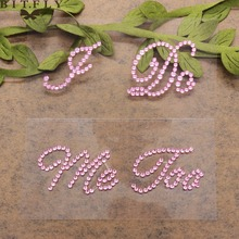 2pcs/set I Do Me Too shoes sticker Wedding Vinyl Novelty Cute high heels Rhinestone Stickers Bachelor theme party decal supplies