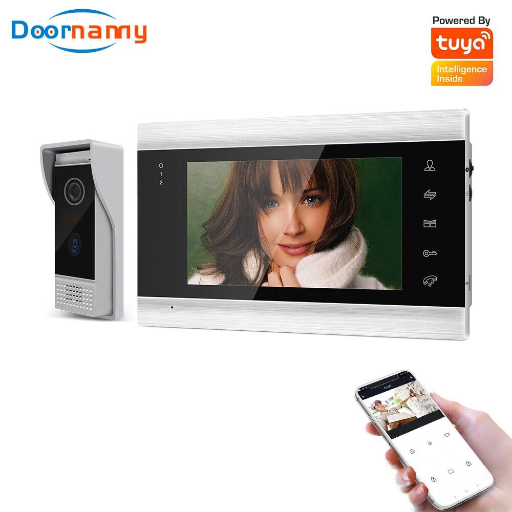 Doornanny sistema de vídeo porteiro para casa apartamentos vídeo campainha sistema 720p ahd tuya inteligente wi fi app desbloqueio remoto