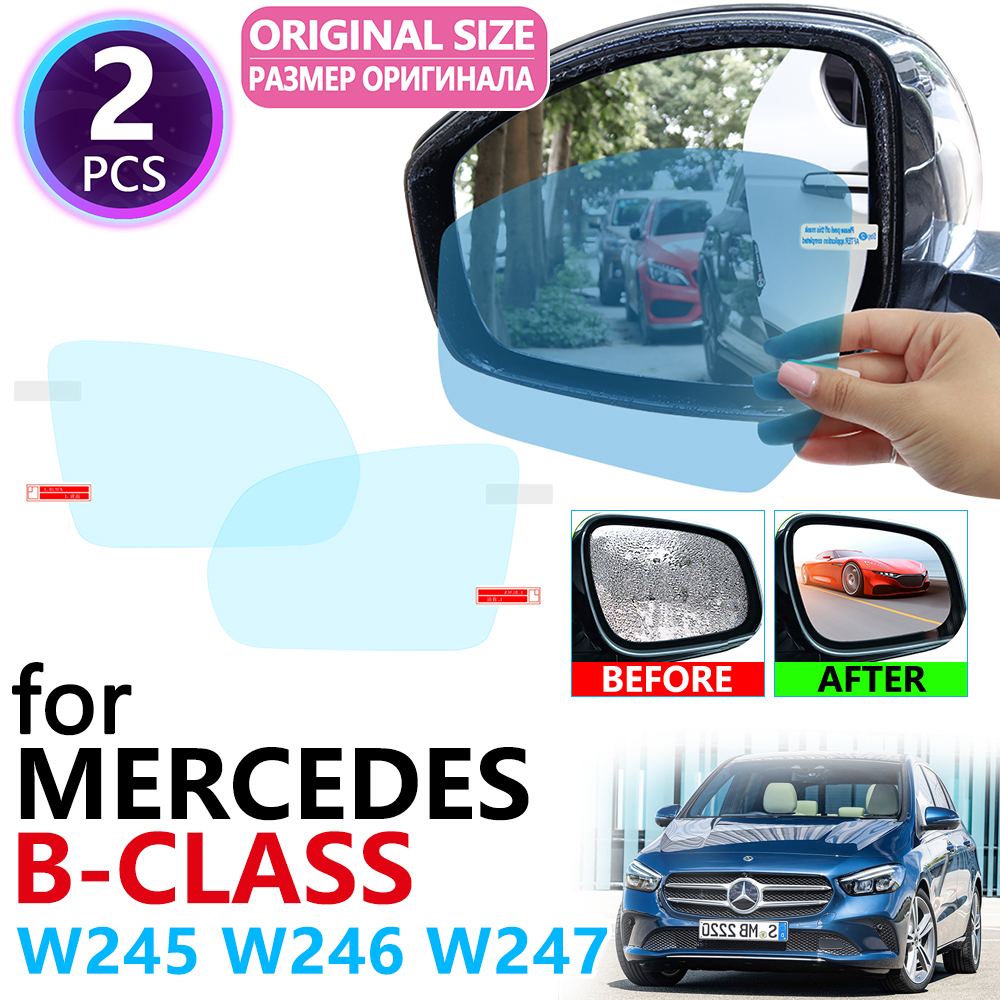 for <font><b>Mercedes</b></font> Benz B-Class W245 <font><b>W246</b></font> W247 B-Klasse B160 <font><b>B180</b></font> B200 2009~2010 Full Cover Rearview Mirror Anti Fog Film Accessories image