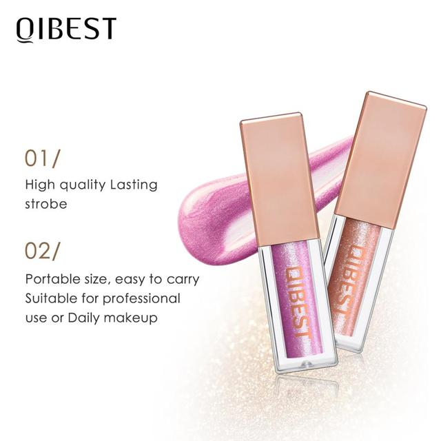 QIBEST 15 Colors Eyeshadow Stick Shining Makeup Glitter Pigment Waterproof Eye Shadow Stick Smoky Liquid Eye Shadow Cosmetics 4
