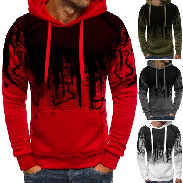 Print Plus Size Men Casual Hoodies Sweatshirt 2019 New Fashion Streetwear Elegant Men Autumn Winter Sweatshirt Hoodies S-5XL