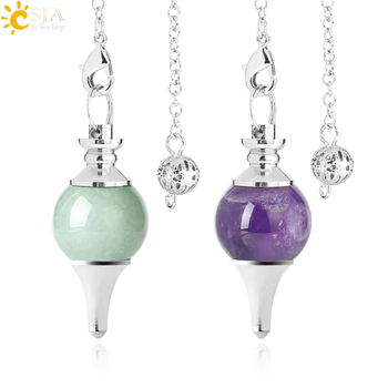 CSJA Fortune-Telling Pendulum for Dowsing Natural Stone Crystal Red Agates Circular Cone Charm Pendant Pendule Divination F269 1