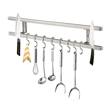 Мощный магнитный держатель для кухонных ножей из нержавеющей стали 304, настенный магнитный держатель для ножей с крюком