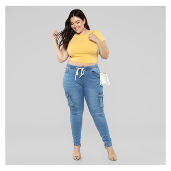 Plus Size Women Jeans High Waist Denim Pants Casual Loose Autumn Fashion Sexy Stretch New Skinny Female Pencil Trousers goocheer 5 colors style women denim skinny leggings pants high waist stretch jeans rose pencil trousers plus size s 3xl