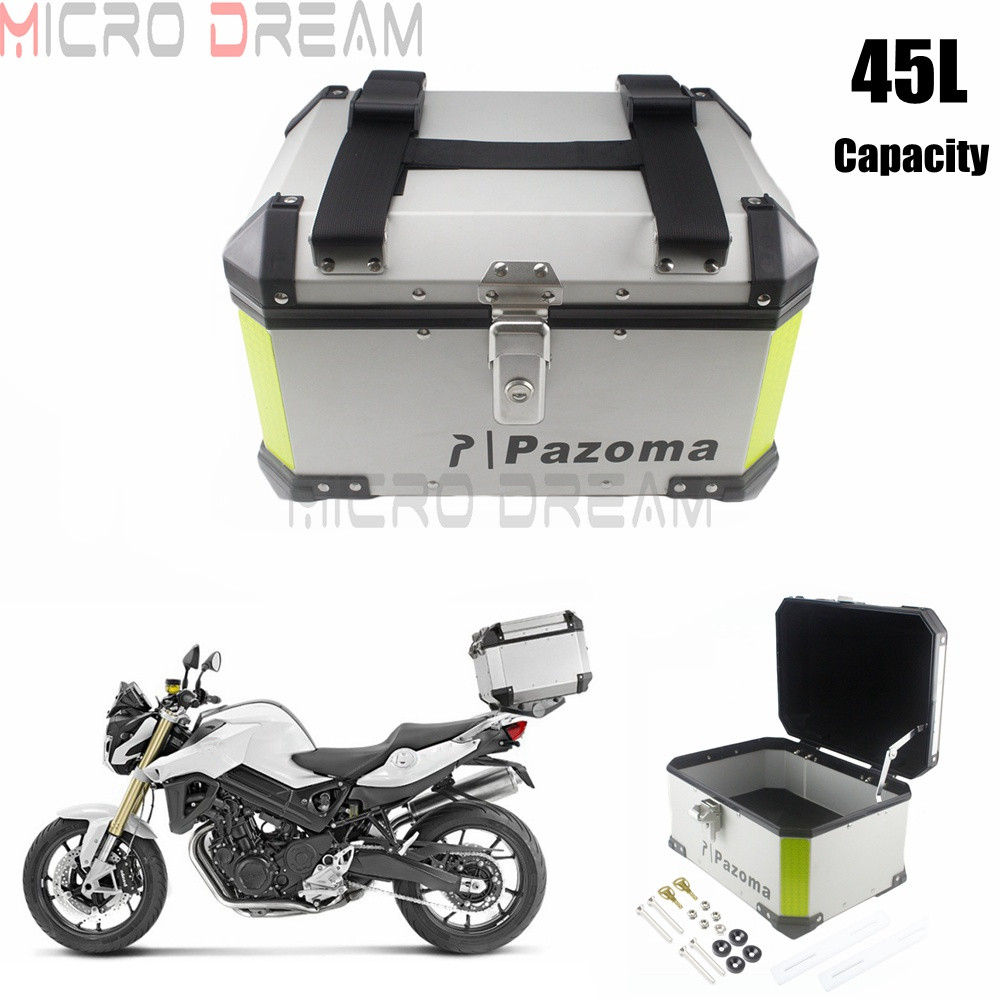 Large Capacity with Safety Lock Shockproof Tail Box ZBYL Universal Motorcycle Motorbike Scooter Rear Luggage Topcase Motorcycle Topbox