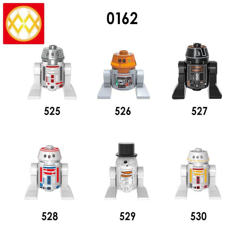 C-3po único R2 Robot Palpatine Storm figuras Trooper caballeros de Ren Kylo Mandalorian bebé Yoda juguetes de bloques de construcción para niños
