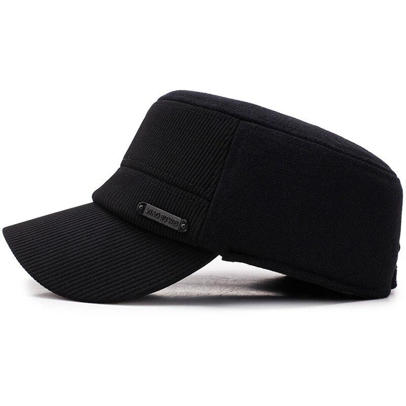 Hat Woolen Cap Earmuffs Military-Cap Korean-Style Winter Outdoor Warm And Autumn Men