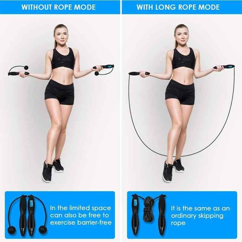 Digital Counting Jump Rope Calorie Fitness Gym Electronic Wireless Skipping Rope
