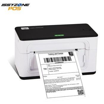 IssyzonePOS принтер штрих-кода на этикетке 4 дюйма 4 × 6 этикетка USB термопринтер 20-110 мм бумажная печать Экспресс доставка принтер для этикеток