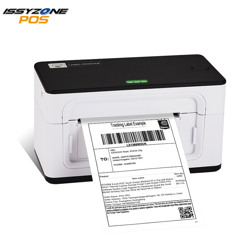 IssyzonePOS Label Barcode Printer 4 Inch 4×6 Label USB Thermal Printer 20-110mm Paper Printing Shipping Express Lable Printer