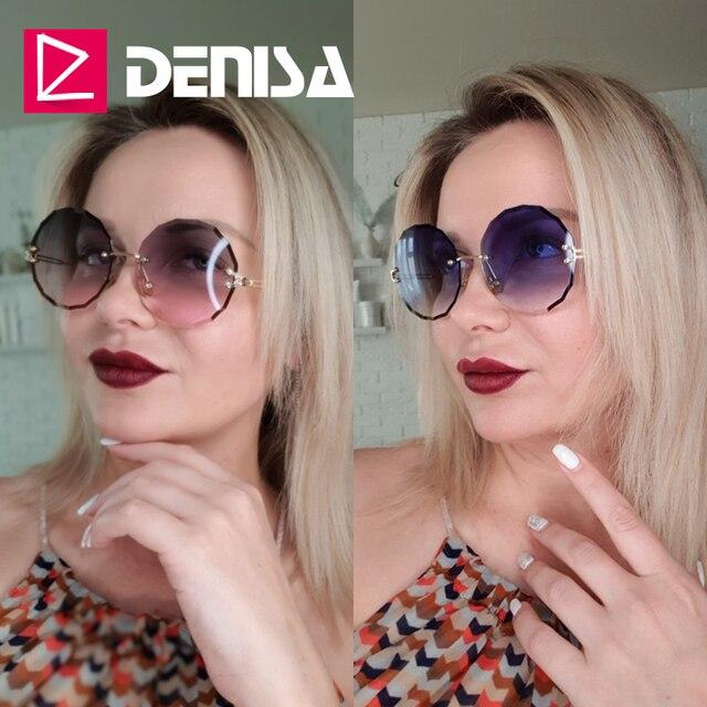 DENISA Rimless  Round Sunglasses  1