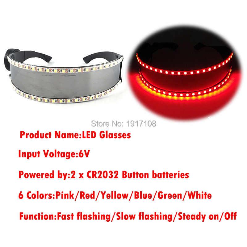 나이트 클럽 수행자에 대 한 5V LED 안경 레이저 안경 led 안경 파티 춤 빛나는 LED 마스크 레이브 안경