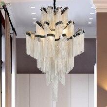 Post Современная тарелка с алюминиевой кисточкой светодиодный подвесной светильник вилла отель блеск кисточкой E14 Lamparas Colgantes подвесной светильник