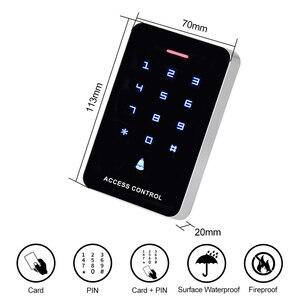 Image 2 - OboタッチパネルアクセスコントロールキーパッドrfidリーダキーボードアクセスコントローラWG26 ドアベルボタン + 10 個EM4100 キーフォブタグ
