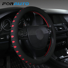 FORAUTO Car Steering Wheel Cover Universal Fit For Most Cars 38cm Diameter EVA Punching Car styling Interior Accessories
