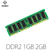 цена на GZSM Desktop Memory DDR2 1GB 2GB for PC2 4200 5300 6400 8500 Memory Cards  533MHZ 667MHZ 800MHZ 1066MHZ Memory RAM 240pin 1.8V