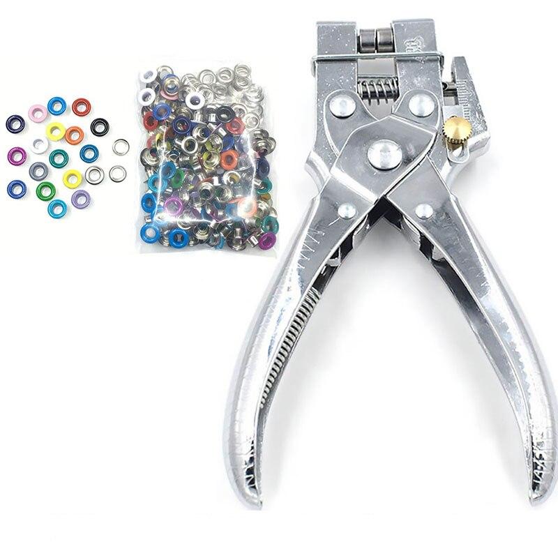 5 мм петельки, плоскогубцы, инструменты для установки, металлические кнопки заклепки, формы, цветные краски, металлические веревки, Петельки