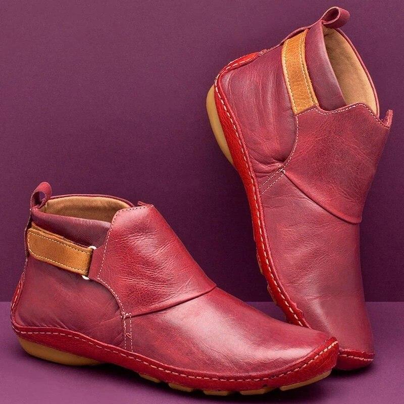 Новинка; кожаные женские ботинки из искусственной кожи; зимние ботинки; женские мягкие удобные ботильоны для женщин; зимние ботинки; Женска...