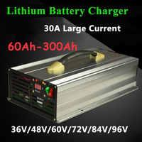 Cargador inteligente para carretilla elevadora, batería de energía solar de 36V/48V/60V/72V/84V/96V 20A-30A para 60Ah-300Ah li ion/lifepo4/LTO/lead acid