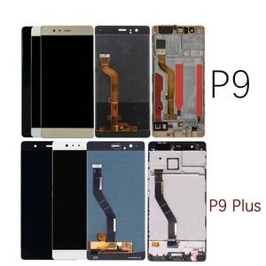 Image 2 - Pour Huawei P9 LCD écran tactile numériseur assemblée avec cadre pour Huawei P9 Plus écran LCD EVA L09 L19 VIE L09 L29