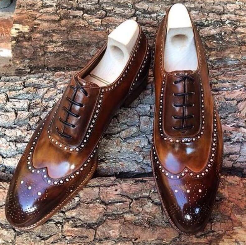 Men PU Leather Fashion Shoes Low Heel Fringe Shoes Dress Shoes Brogue Shoes Spring Ankle Boots Vintage Classic Male Casual LP223