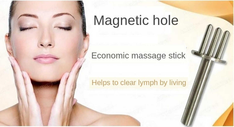Ouro beleza massagem vara desintoxicação remoção ácida emagrecimento face lift reduzir círculos pretos massageador acupoint cuidados de saúde