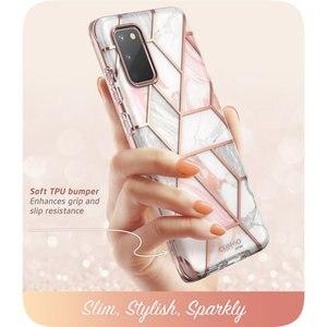 Image 4 - I BLASON Voor Samsung Galaxy S20 Case / S20 5G Case Cosmo Full Body Glitter Marmer Bumper Cover Met ingebouwde Screen Protector
