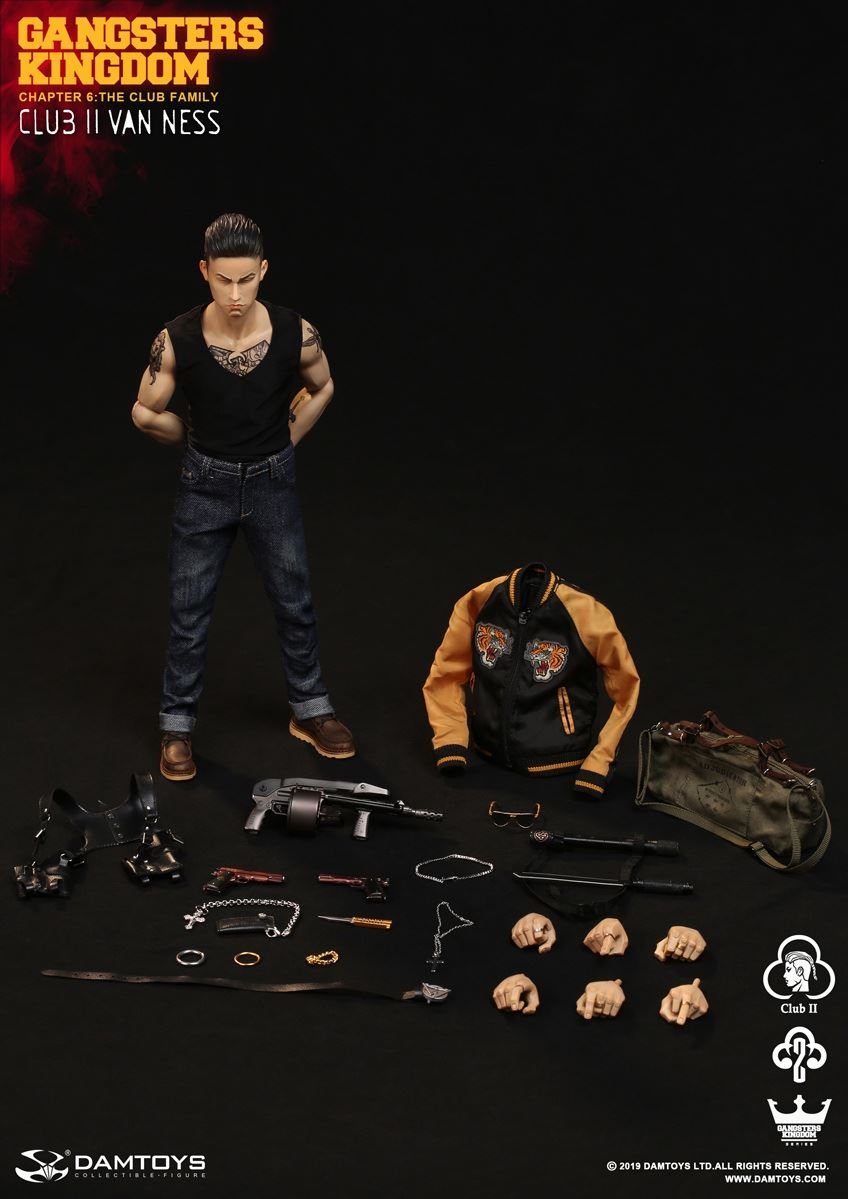 In Stock Collectible 1/6 Scale <font><b>Gangsters</b></font> <font><b>Kingdom</b></font> Club 2 Van Ness GK017 Wu Jianhao Van Ness Action Figure Model for Fans Gifts image