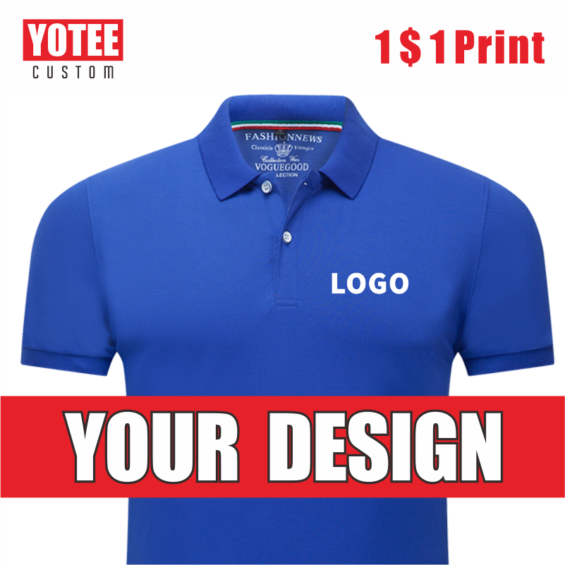 YOTEE Business Casual Cheap Short Sleeve Personal Company Group Logo Custom POLO Shirt Men And Women Custom Tops
