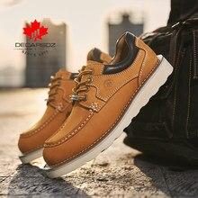 DECARSDZ chaussures en cuir véritable homme 2021 nouveau haute qualité en cuir de vache confortable à lacets hommes chaussures décontractées bureau hommes chaussures taille 38-45