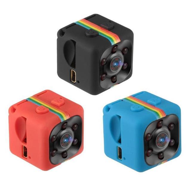 Мини видеорегистратор SQ11 HD 720P, инфракрасная камера ночного видения, Спортивная видеокамера DV, 720P, камера видеорегистратор с датчиком движения
