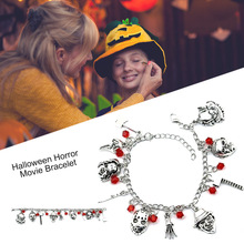 Horror Classic Scary Movies Charm Bracelet Jewelry Series Halloween Creepy M8694