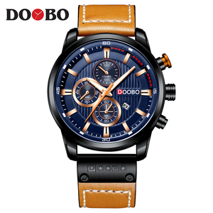 Image 2 - DOOBO Luxury Brand Men Analog Leather Sports Watches Mens Army Military Watch Male Date Quartz Clock Relogio Masculino D042