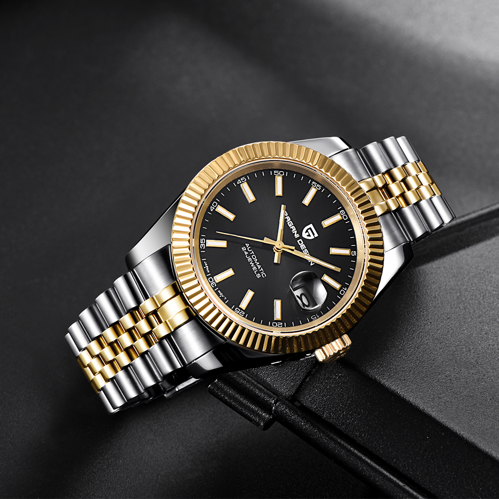 Pagani design luxo masculino relógio de aço inoxidável à prova dwaterproof água relógio mecânico moda esportes relógio automático relogio