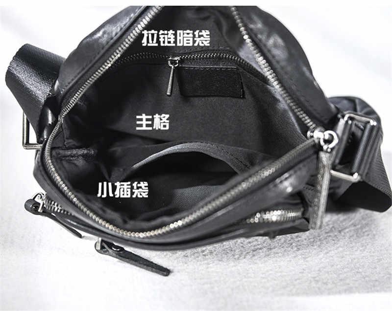 Повседневная мужская сумка из натуральной кожи на плечо, модная трендовая плиссированная сумка из воловьей кожи для подростков, сумка-мессенджер для телефона