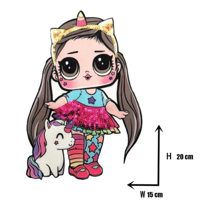Мультяшные нашивки женские модные куклы лол для девочек Милая Модная Кукла-мальчик вышивка на одежду ручная работа украшение одежды Блестки Ткань - Цвет: WW-48