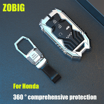 ZOBIG dla Honda brelok nakładka na klucz ochraniacz na drążek skrzyni biegów kompatybilny z Honda Civic Accord CR-V HR-V pasuje Odyssey JED Crossto tanie i dobre opinie CN (pochodzenie) Ze stopu aluminium