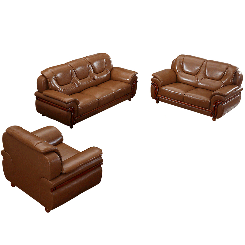 Karois Clical Leather Sofa Set Three