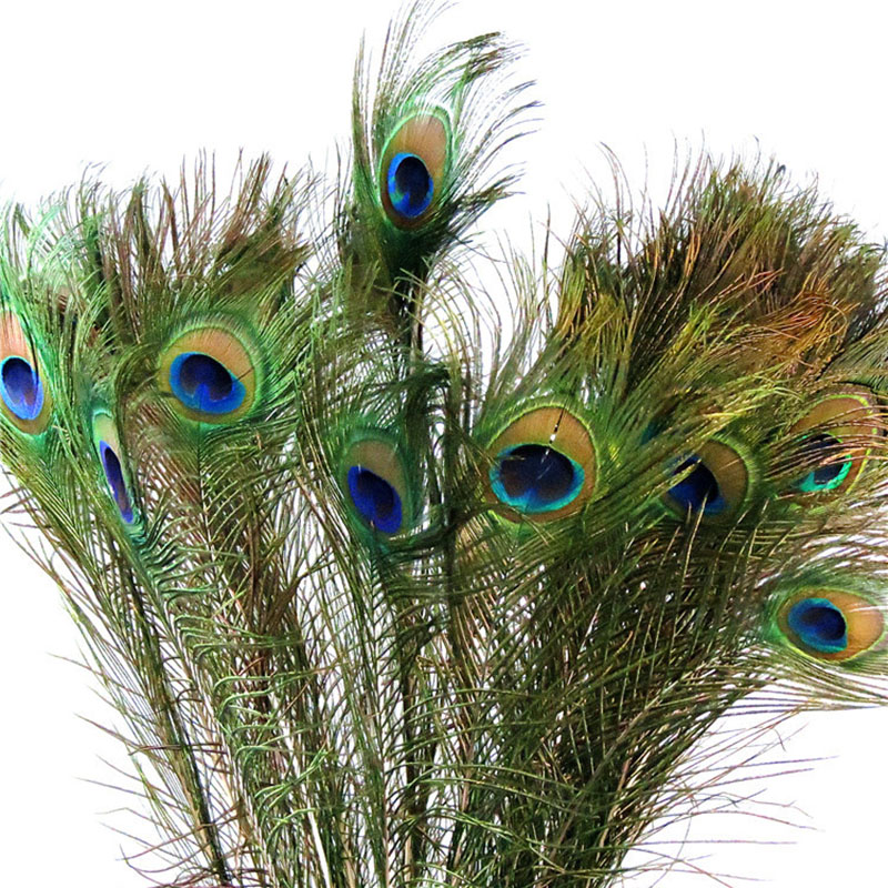 50pcs Lot Simulation Peacock Feather 80 90cm Natural Feather Home Decoration Accessories Living Room Display Party Decorations Buy At The Price Of 23 99 In Aliexpress Com Imall Com