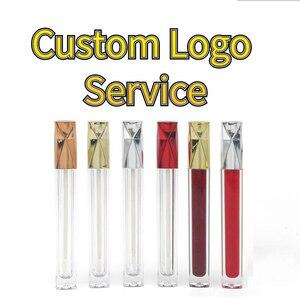 Пользовательский логотип блеск для губ Губная помада частная этикетка пустая Подгонянная Косметическая этикетка упаковка