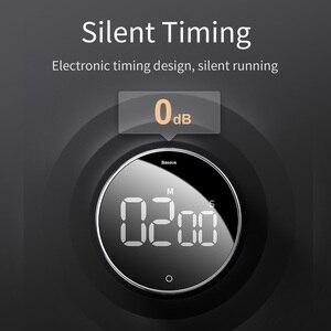 Image 2 - Baseus dijital LED zamanlayıcı mutfak manyetik geri sayım Count Down 99 dakika 55 saniye pişirme alarmı pişirme öğretim toplantısı